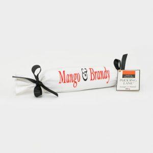 mango and brandy Christmas pudding